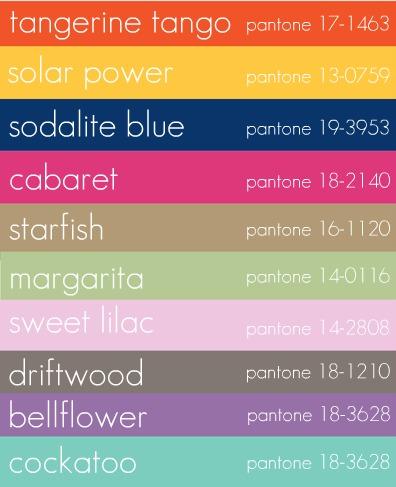Design By Cassandra The Pantone Colour Of 2012 Tangerine