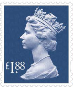 Machin definitive stamp 188p.