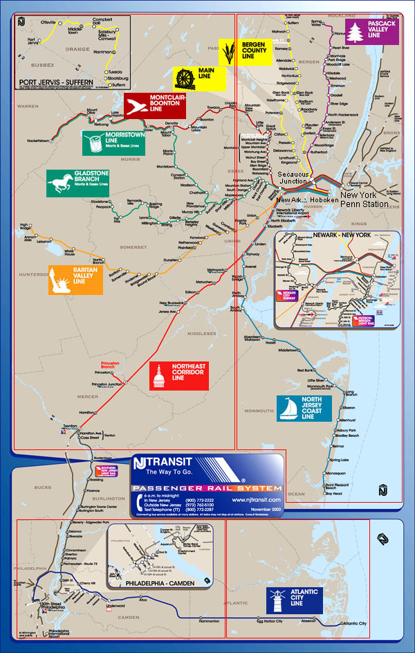 Jersey bus map