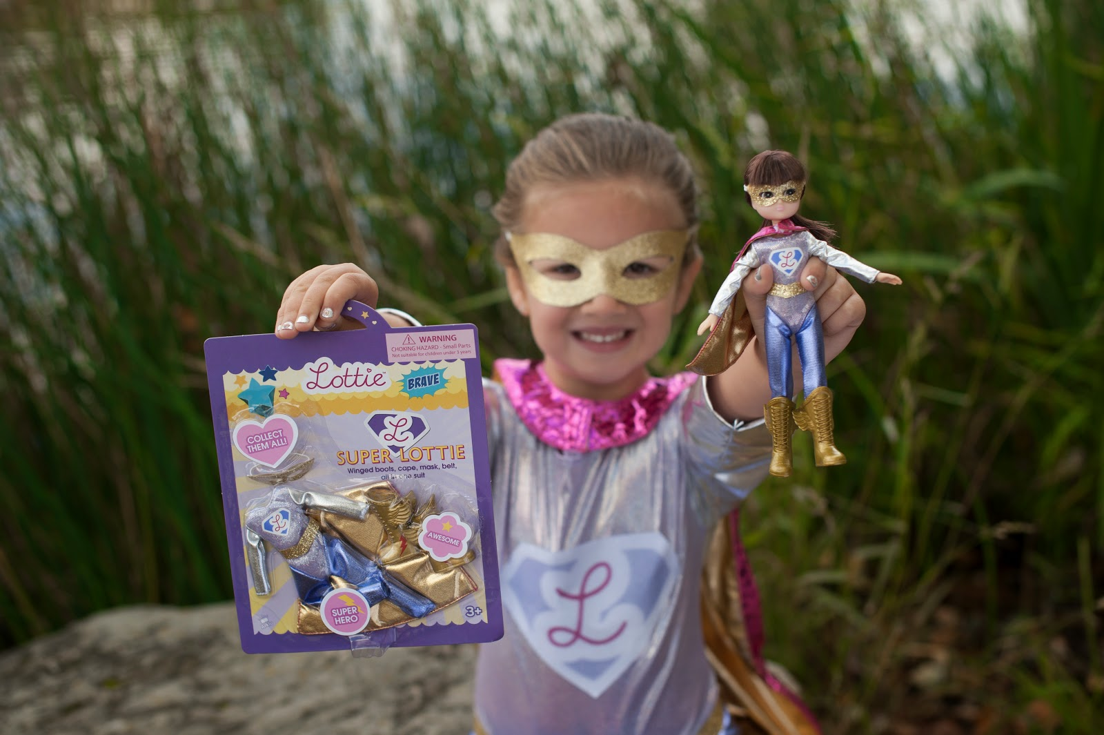 International Day of the Girl Lottie Doll Superhero Outfit