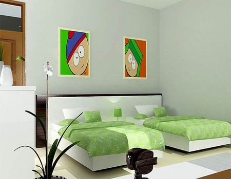 desain kamar tidur bernuansa hijau desain rumah