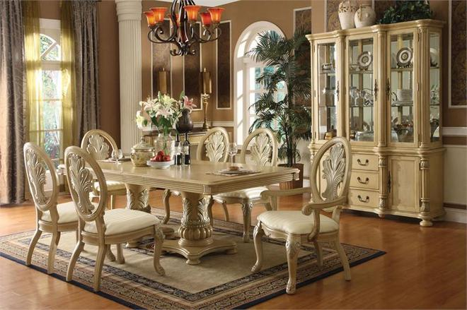 Antique Furniture Dining Room Set White Luxury Classic