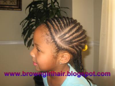 Little Black Girls Cornrow Braids