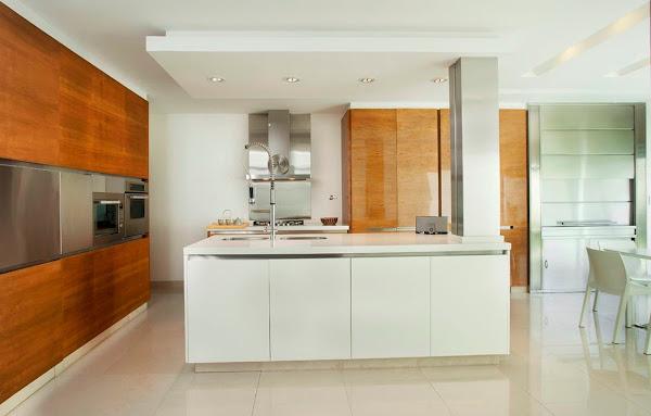 Cocinas con isla for Isla cocina madera