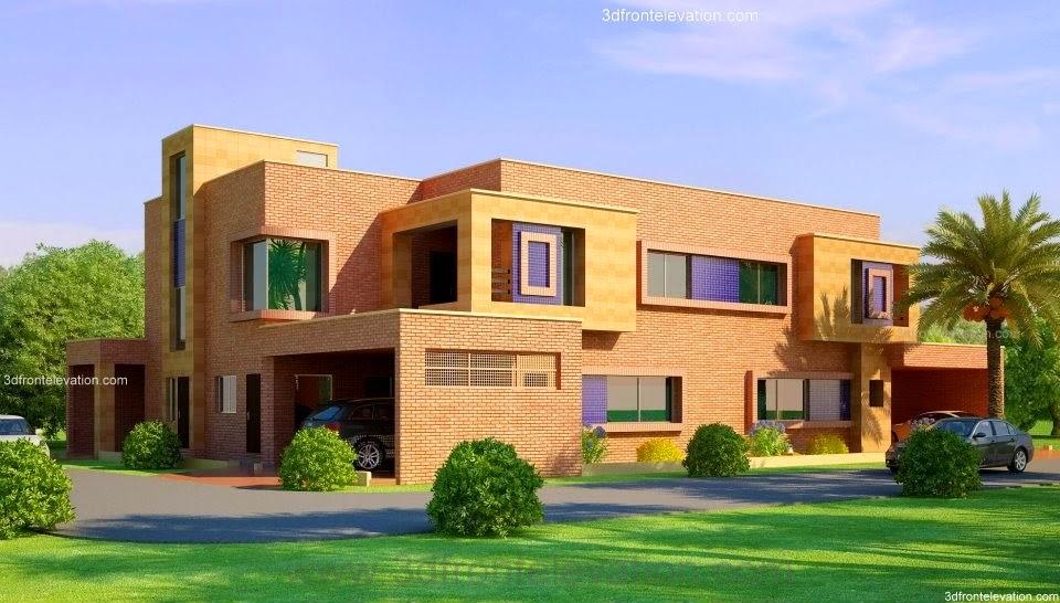 Corner Plot @ 2 House Design Lahore Beautiful House 1 Kanal Modern 3D ...