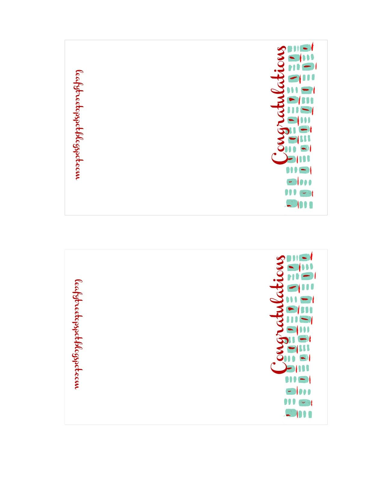Congratulations Cards Free Printable diagrams – Free Congratulation Cards