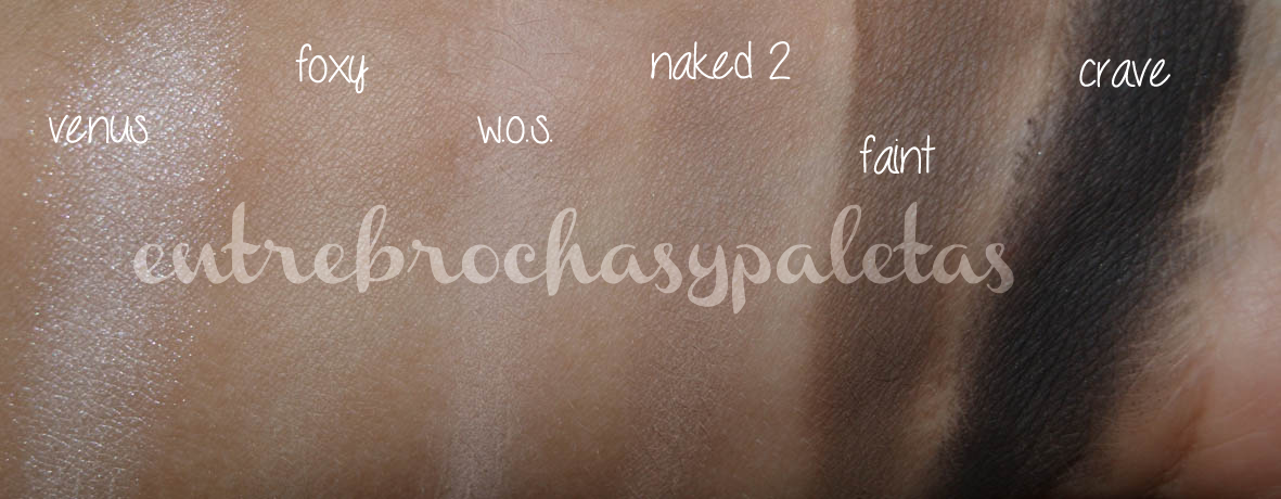 naked basics urban decay swatches
