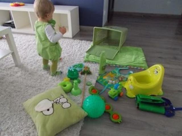 zielony koszyczek sensoryczny