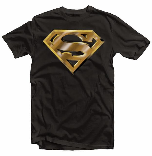 superman logo gold tshirt design