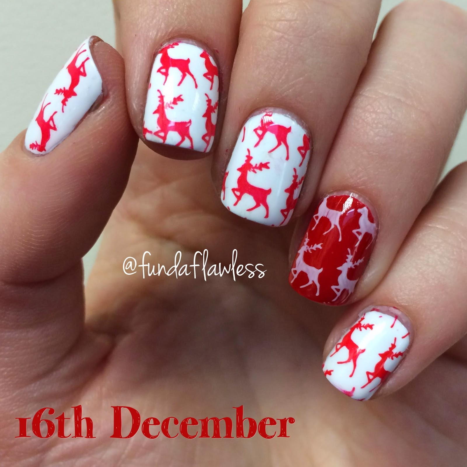 Reindeer MoYou Festive Collection Nail Art