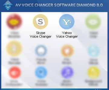 Skype and Yahoo Voice Changer navigation buttons