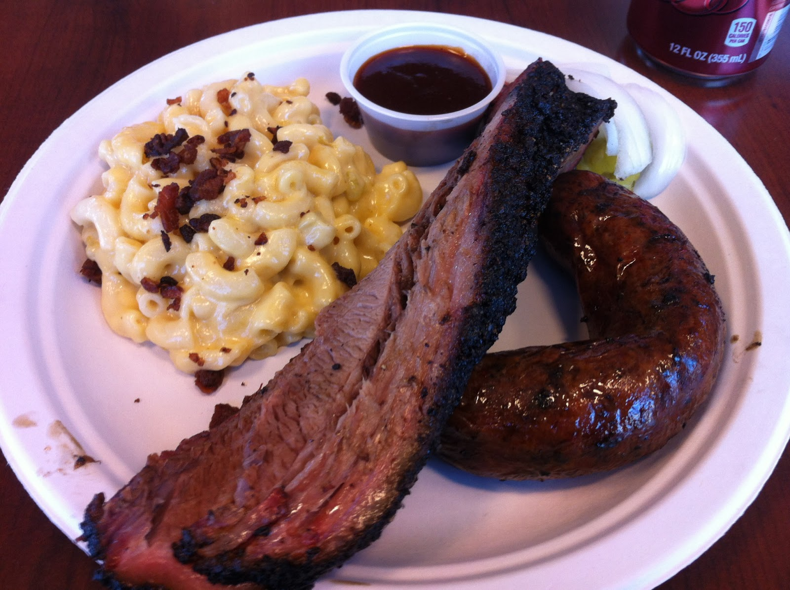 Pecan Lodge Dallas BBQ Barbecue Barbeque Bar-B-Que Brisket Sausage Macaroni Mac Cheese Combo