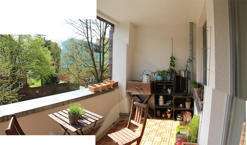 Mein balkon panoramafotos for Kleiner marmortisch