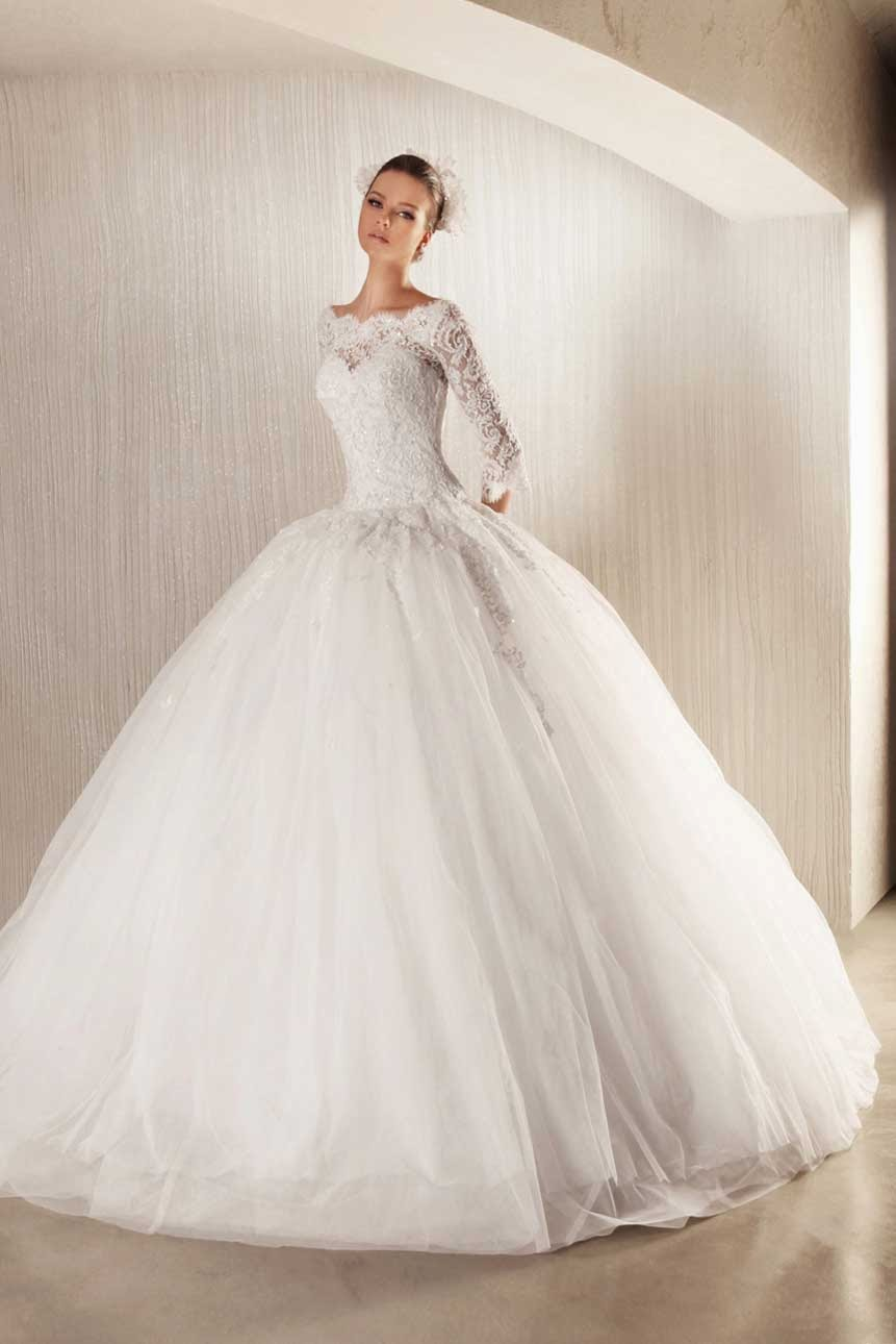 White Wedding Dresses with Sleeves Photos HD Concepts Ideas