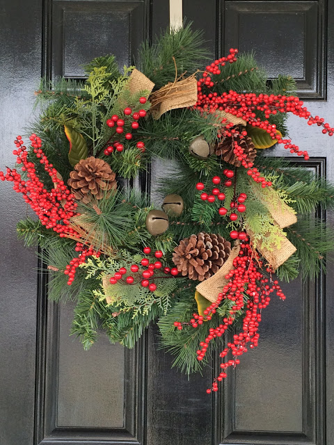 traditional christmas decoration window swag williamsburg style wreath