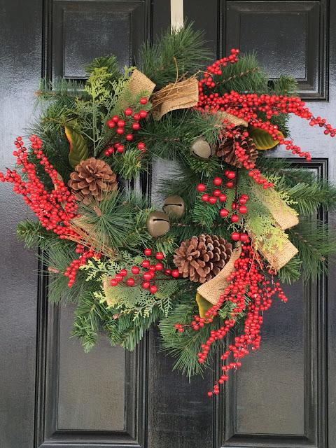 traditional christmas decoration window swag williamsburg style wreath