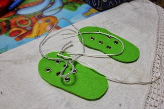 башмаки зеленые