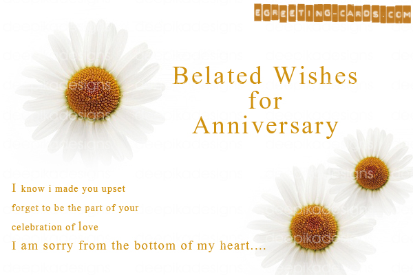 Greeting cards deepika designs belated wishes for anniversarygreeting card m4hsunfo