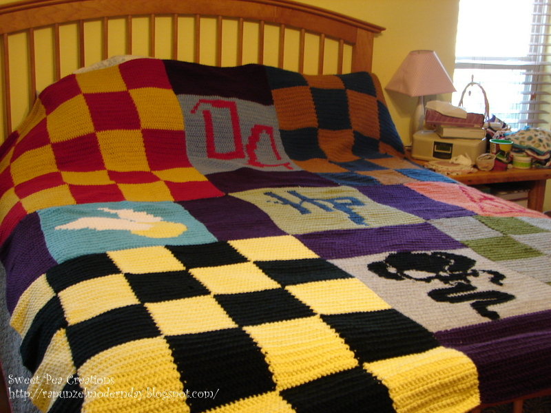 modern day rapunzel harry potter blanket pattern is here. Black Bedroom Furniture Sets. Home Design Ideas