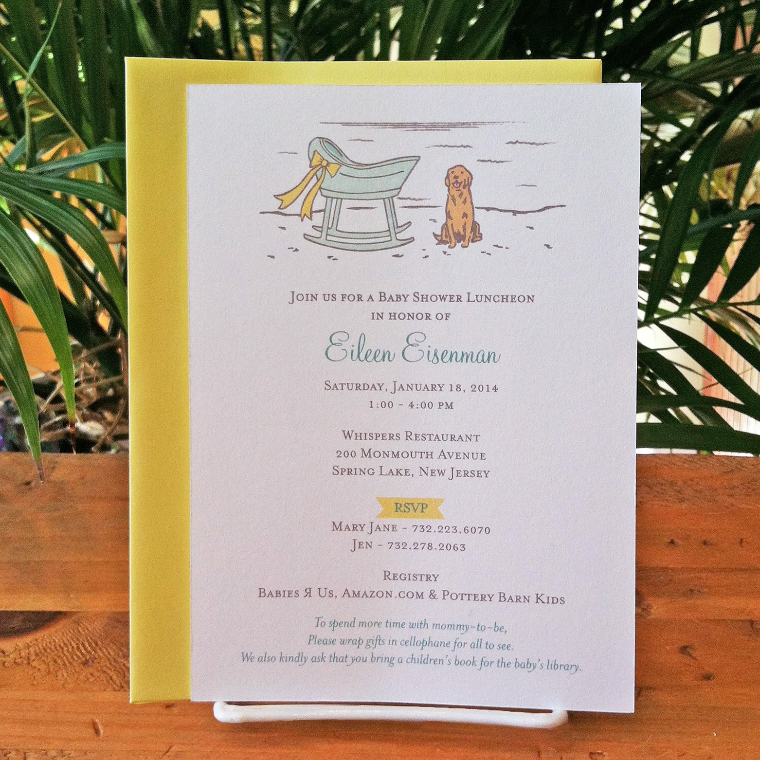 Invitations, Ink, Social Design Studio: Golden Retriever Baby Shower