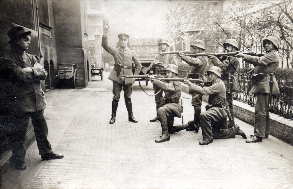 Execution of a German Communist in Munich, 1919