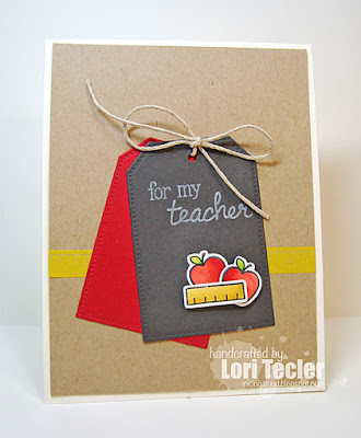 For My Teacher card-designed by Lori Tecler/Inking Aloud-stamps from Lawn Fawn