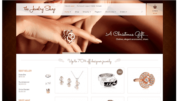 THE JEWELRY SHOP wp theme