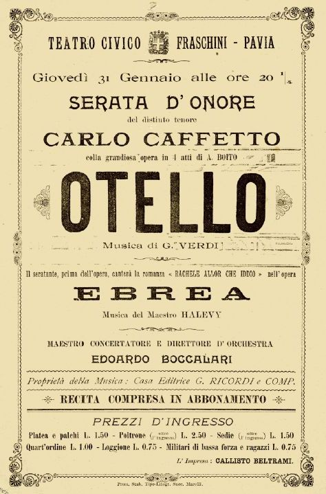 FIRST RECORDED ITALIAN OPERA SINGERS: CARLO CAFFETTO (1869-1909) CD