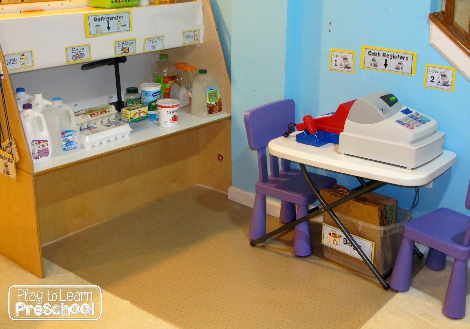 Classroom Store Ideas : Play to learn preschool grocery store