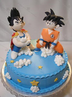 Bolos e cake Dragon Ball Goku e Vegeta