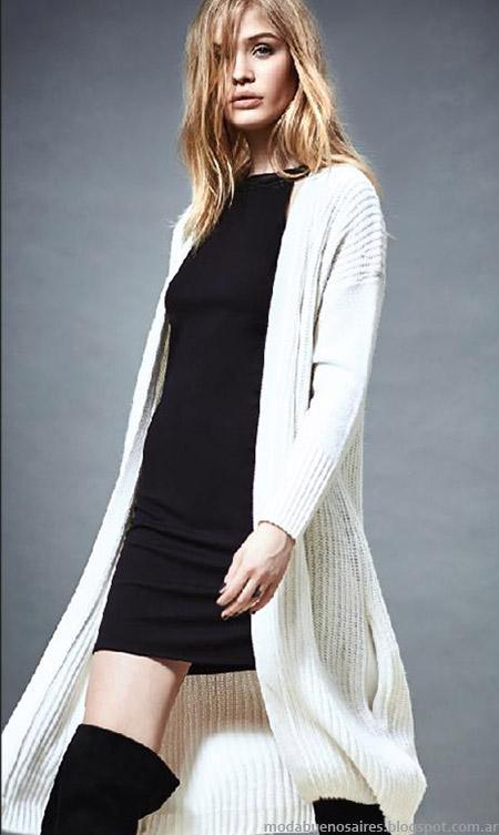 Moda invierno 2015 Akiabara. Sacos tejidos largos invierno 2015 moda mujer.