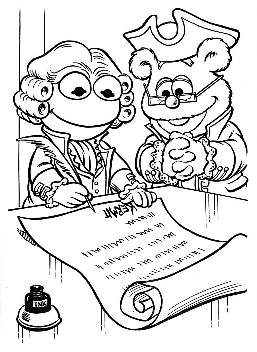 first continental congress drawing sketch coloring page