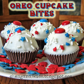 Oreo Cupcake Bites by Cheng and 3 Kids