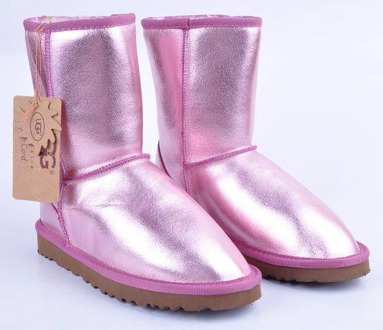think pretty n pink shiny pink uggs. Black Bedroom Furniture Sets. Home Design Ideas
