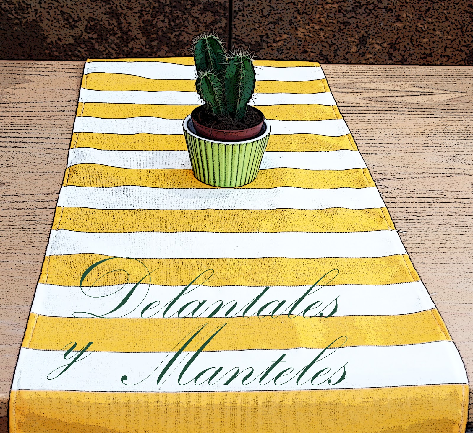 Delantales y manteles camino de mesa - Manteles y caminos de mesa ...