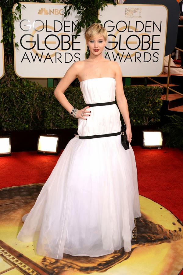 2014 Golden Globes  Jennifer Lawrence in Dior