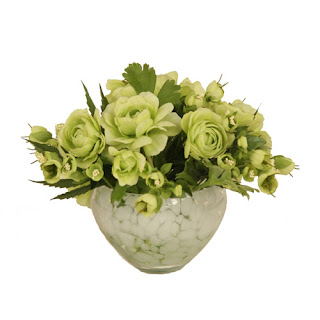 Green Roses Faux Flower Arrangement