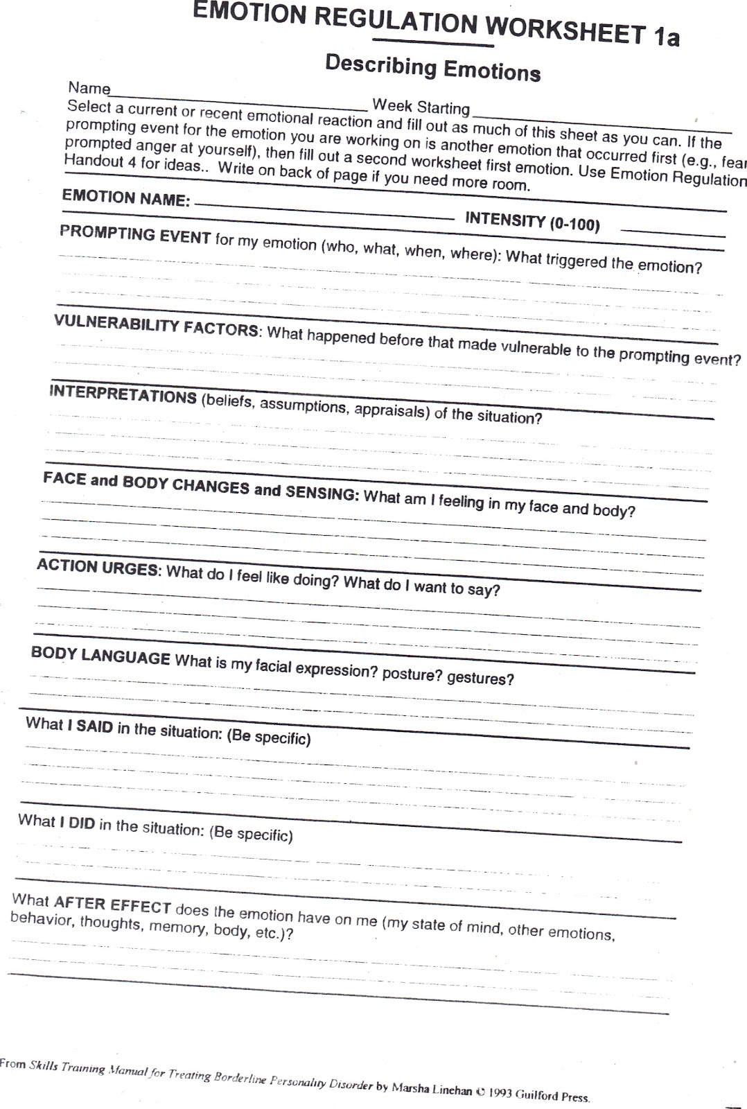 worksheet Emotions Worksheet emotional regulation worksheets abitlikethis emotion worksheet 1a