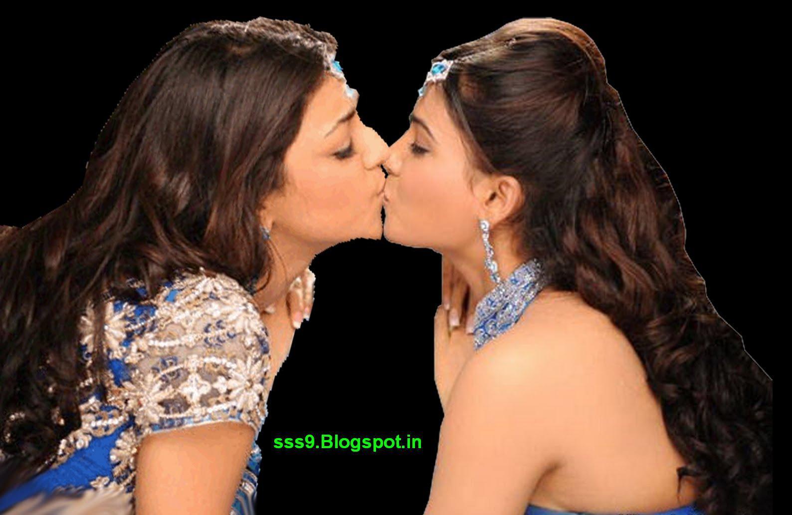 Kajal agarwal hot kiss lip