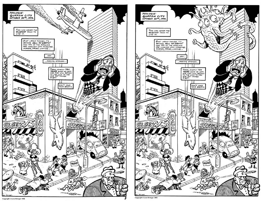 Lew stringer comics spot the difference of a comic called yampy tales which featured reprints of combat colin strips plus in issues 2 and 3 a new brickman adventure the splash page of altavistaventures Choice Image