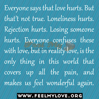 Everyone says that love hurts