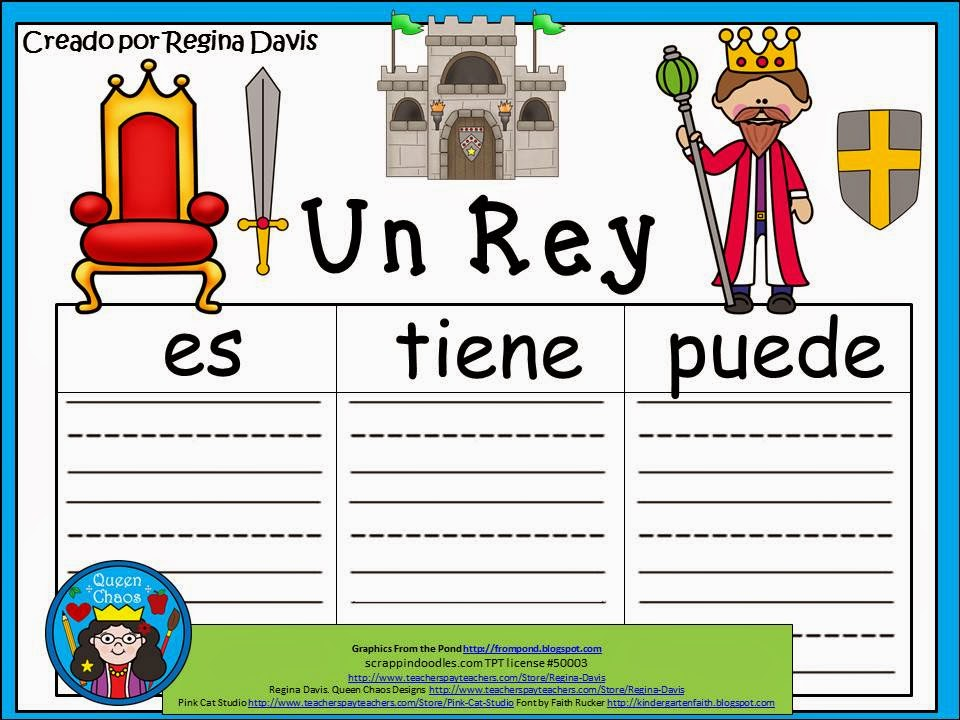 http://www.teacherspayteachers.com/Product/A-Un-ReyThree-Spanish-Graphic-Organizers-1214493