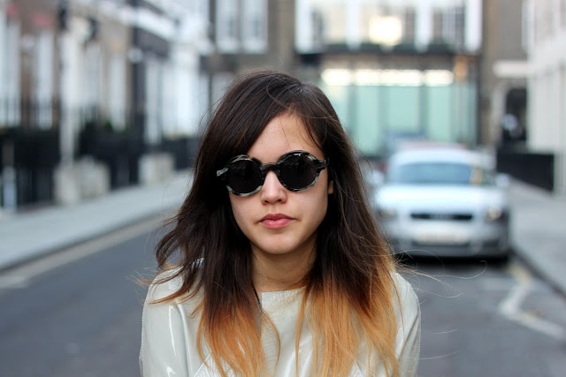 Ilesteva sunglasses modelled by Anna Jewsbury