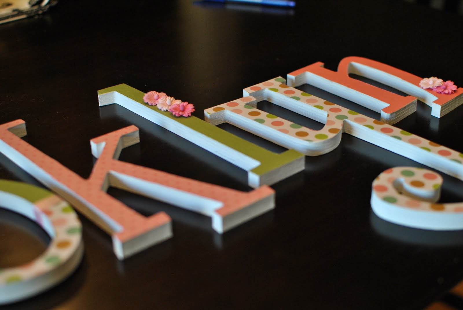 31 flavors diy nursery letters for Furniture 5 letters