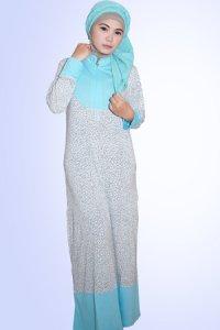 Idmonia Gamis 08 - Biru Muda (Toko Jilbab dan Busana Muslimah Terbaru)