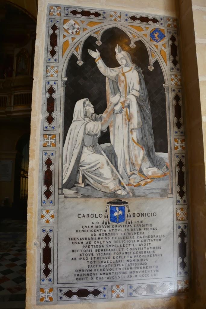 Mdina Cathedral Malta tomb