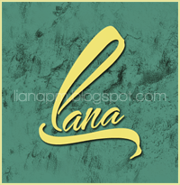 Nautigal font, grunge brush, profile picture lana