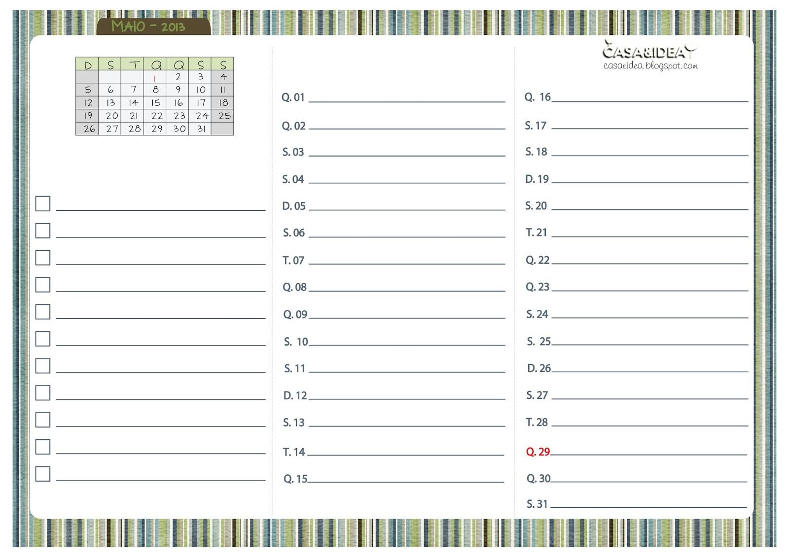 Calendario Abril 2013 Para Imprimir Gratis Calendario Anual En   Share ...