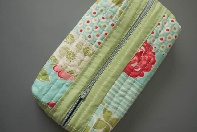 vintage modern box pouch