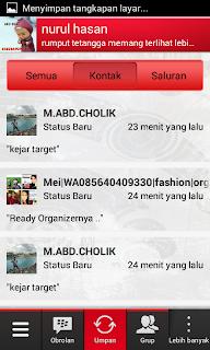 cara memblokir update status bbm